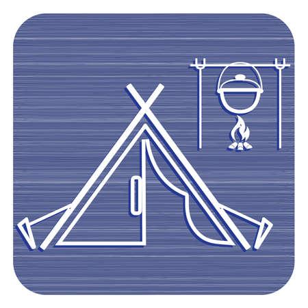 Stylized icon of tourist tent. Vector illustration design. Illustration