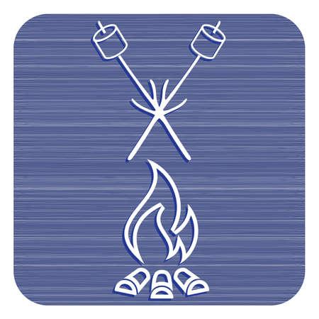 Zephyr on skewer icon. Vector illustration design.