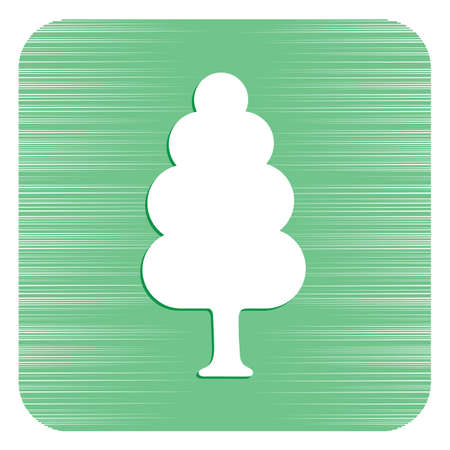 Deciduous forest icon vector illustration.