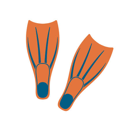 Diving flippers icon. Vector illustration