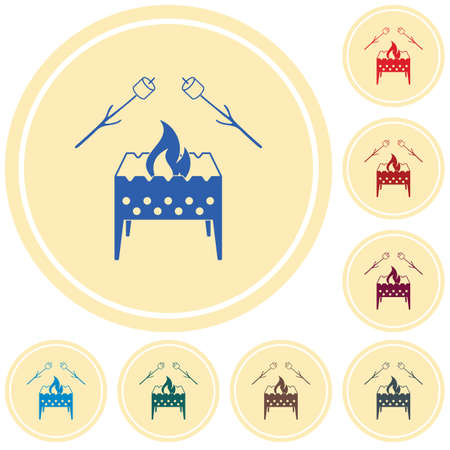 Brazier and zephyr icon. Vector illustration Stock Vector - 100643401
