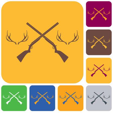 Hunting club symbol icon set
