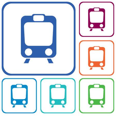 Train icon isolated. High speed train. Metro train symbol. Vector illustration Illustration