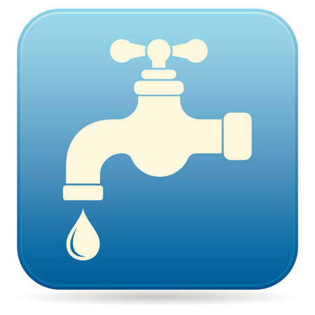Water tap icon in monochrome illustration.