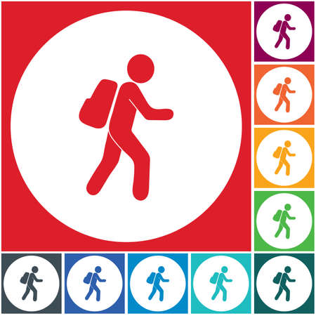 Hiking icon illustration isolated vector sign symbol