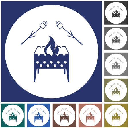 Brazier and zephyr icon. Vector illustration Stock Vector - 101195677