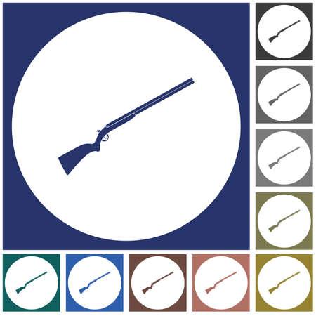 Hunting shot gun icon. Vector illustration   Illustration