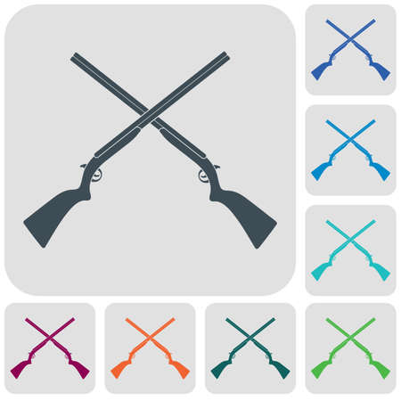 Hunting shot gun icon. Vector illustration