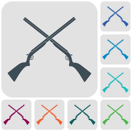 Hunting shot gun icon. Vector illustration 版權商用圖片 - 101620842