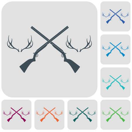 Hunting club logo icon. Vector illustration 版權商用圖片 - 101620875