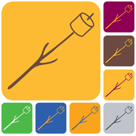 Zephyr on skewer icon. Vector illustration Stock Vector - 101620968