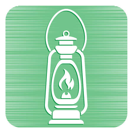 Antique Old Kerosene Lamp isolated. Retro design. Vector illustration. Banque d'images - 101620978