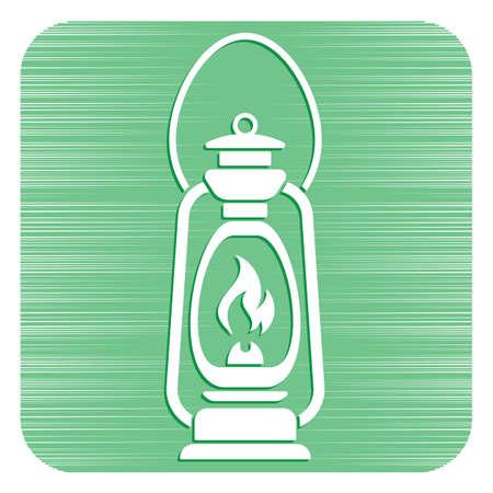 Antique Old Kerosene Lamp isolated. Retro design. Vector illustration. Illustration