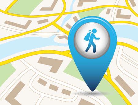 Hiking icon illustration isolated vector sign symbol 版權商用圖片 - 101928980