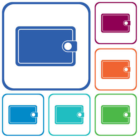 Wallet flat vector icon. Isolated wallet vector sign