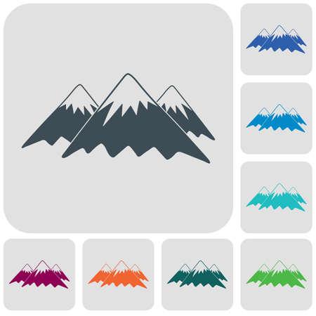 Mountain icon. Vector concept illustration for design Banco de Imagens - 102585687