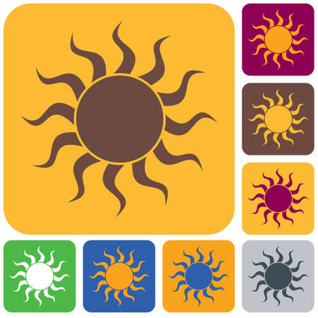 Sun stylized image icon. Vector illustration