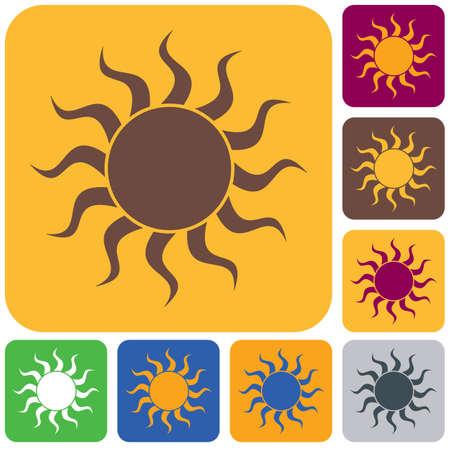 Sun stylized image icon. Vector illustration
