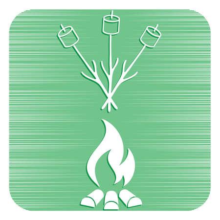 Zephyr on skewer icon. Vector illustration Stock Vector - 102550390