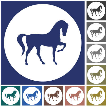 Horse silhouette icon, vector illustration