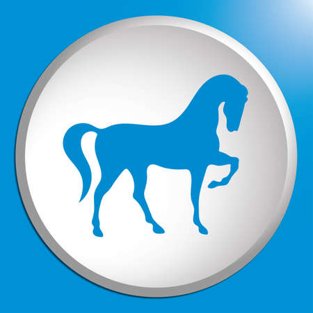 Horse silhouette icon, vector illustration