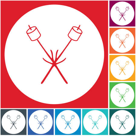 skewer icon. Vector illustration