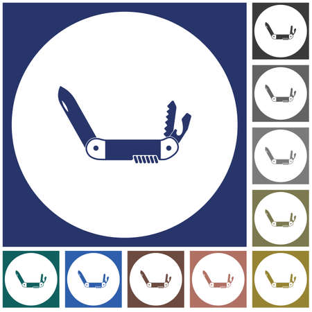 Camping knife icon. Vector illustration Banque d'images - 103369013