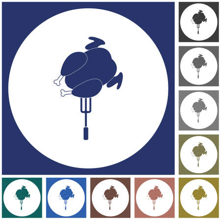 Grilled chicken icon. Vector illustration