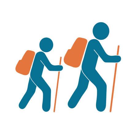 Hiking icon illustration isolated vector sign symbol Illustration