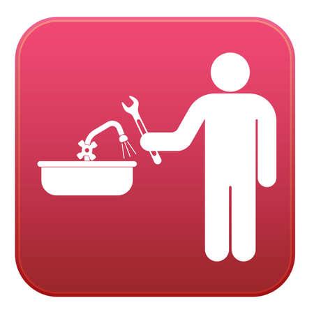 Sanitair werk symboolpictogram. Vector illustratie