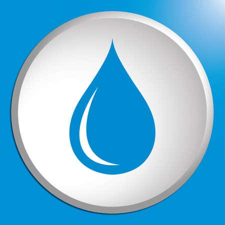 Water drop icon. Vector illustration Vectores
