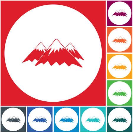 Mountain icon. Vector concept illustration for design