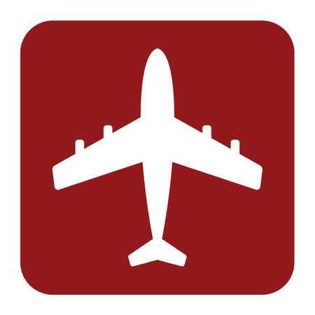 Pplane icon simple flat vector illustration Stock Illustratie