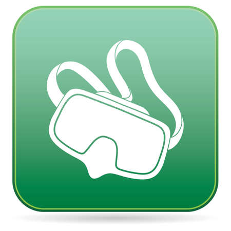 Diving mask icon isolated. Vector illustration
