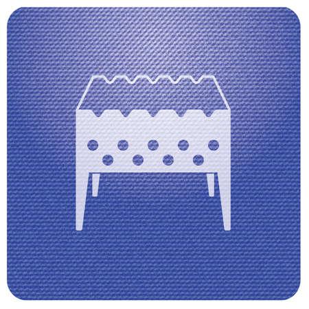 Camping Brazier icon. Vector illustration Stock Vector - 114815217