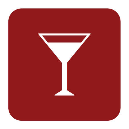 Cocktail glass sign with martini vodka icon. Vector illustration Illustration