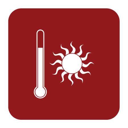 Tthermometer icon. Flat Vector illustration  Illustration