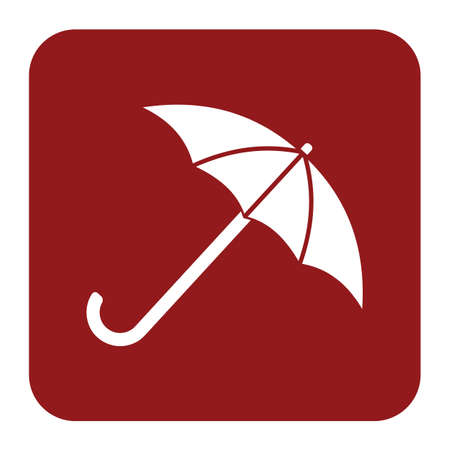 Umbrella sketch icon for web, mobile and infographics Illustration