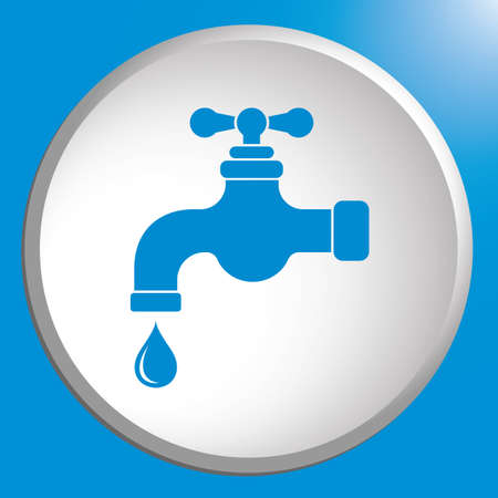 Water tap icon. Vector illustration