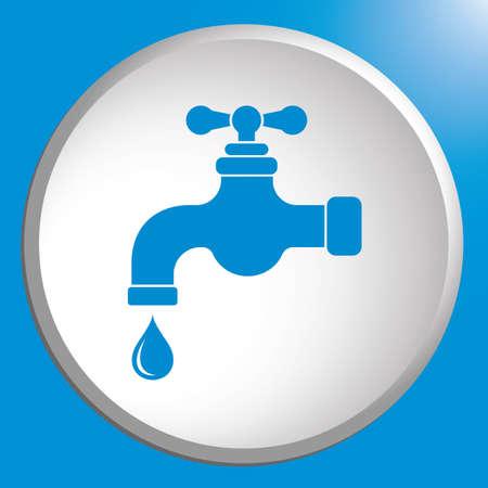 Water tap icon. Vector illustration Stok Fotoğraf - 114770932