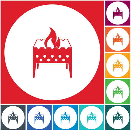 Camping brazier icon. Vector illustration