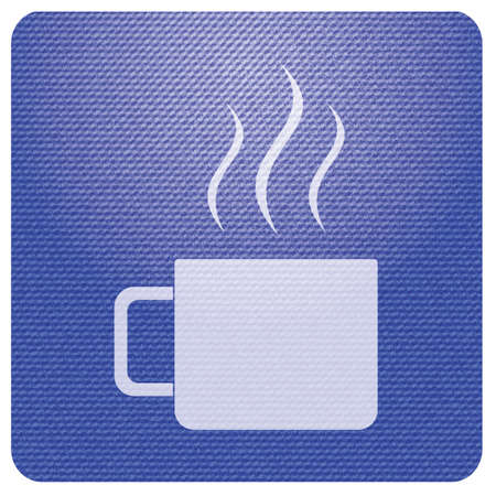 Camping cup vector icon. Tourist mug isolated.