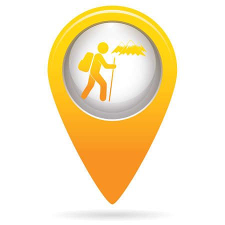 Hiking icon illustration isolated vector sign symbol Illusztráció