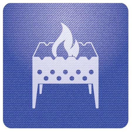 Camping brazier icon. Vector illustration Stock Vector - 111992961