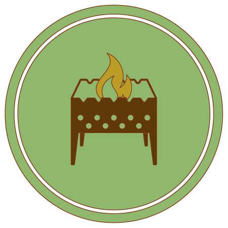 Camping brazier icon. Vector illustration Illustration