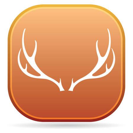 Hunting club logo icon.