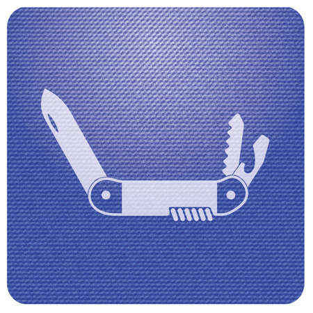 Camping knife icon. Vector illustration