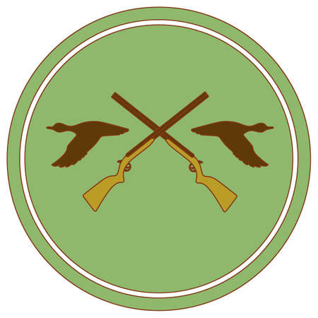 Hunting club logo icon. Vector illustration