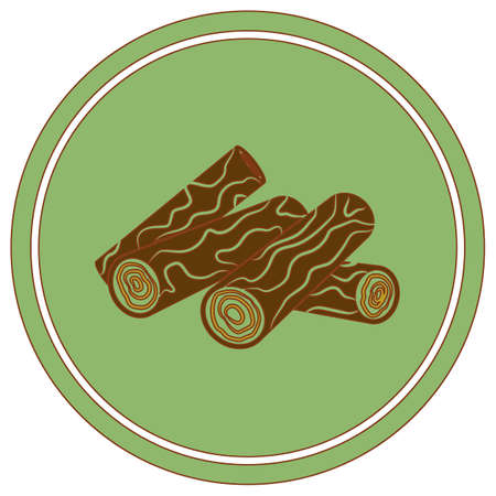 Firewood for bonfire icon. Vector illustration