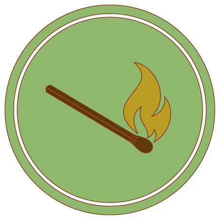 Match fire icon vector. Vector illustration Illustration